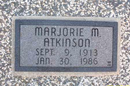 ATKINSON, MARJORIE M. - Montgomery County, Kansas | MARJORIE M. ATKINSON - Kansas Gravestone Photos