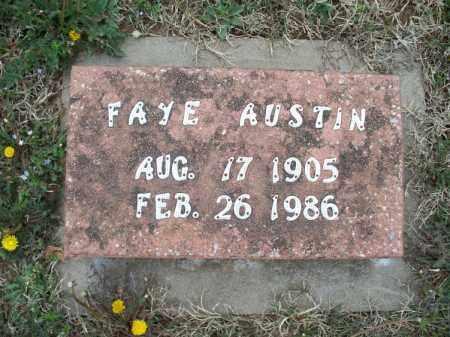 AUSTIN, FAYE - Montgomery County, Kansas | FAYE AUSTIN - Kansas Gravestone Photos