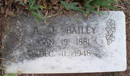 BAILEY, A. J. - Montgomery County, Kansas | A. J. BAILEY - Kansas Gravestone Photos