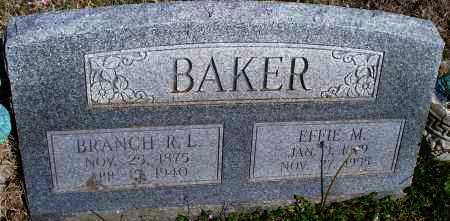 BAKER, BRANCH R. L. - Montgomery County, Kansas | BRANCH R. L. BAKER - Kansas Gravestone Photos