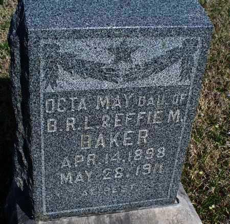 BAKER, OCTA MAY - Montgomery County, Kansas   OCTA MAY BAKER - Kansas Gravestone Photos