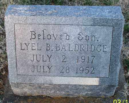 BALDRIDGE, LYEL B - Montgomery County, Kansas | LYEL B BALDRIDGE - Kansas Gravestone Photos