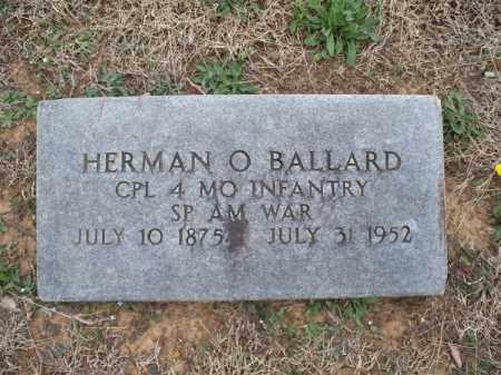 BALLARD, HERMAN O   (VETERAN SAW) - Montgomery County, Kansas | HERMAN O   (VETERAN SAW) BALLARD - Kansas Gravestone Photos