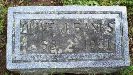 BANKS, OLIVE J. - Montgomery County, Kansas | OLIVE J. BANKS - Kansas Gravestone Photos