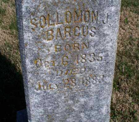 BARCUS, SOLLOMON J. - Montgomery County, Kansas | SOLLOMON J. BARCUS - Kansas Gravestone Photos