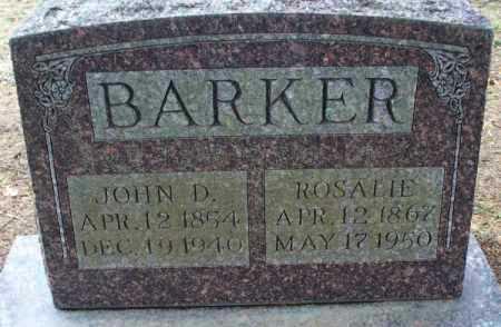 BARKER, JOHN D. - Montgomery County, Kansas   JOHN D. BARKER - Kansas Gravestone Photos