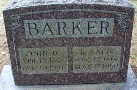 BARKER, JOHN D - Montgomery County, Kansas | JOHN D BARKER - Kansas Gravestone Photos