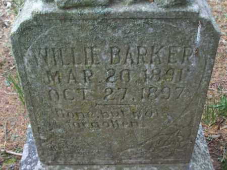 BARKER, WILLIE - Montgomery County, Kansas | WILLIE BARKER - Kansas Gravestone Photos