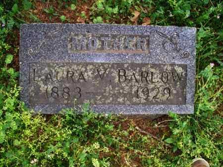 BARLOW, LAURA V - Montgomery County, Kansas   LAURA V BARLOW - Kansas Gravestone Photos