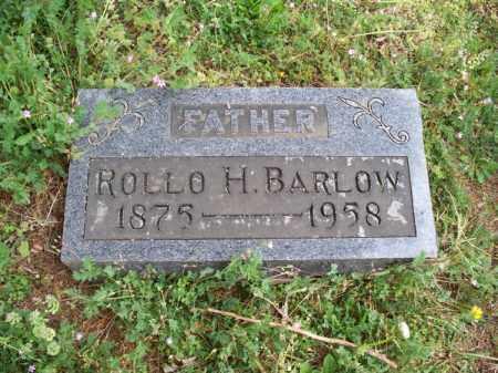 BARLOW, ROLLO H. - Montgomery County, Kansas   ROLLO H. BARLOW - Kansas Gravestone Photos