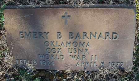 BARNARD, EMERY B  (VETERAN WWII) - Montgomery County, Kansas | EMERY B  (VETERAN WWII) BARNARD - Kansas Gravestone Photos