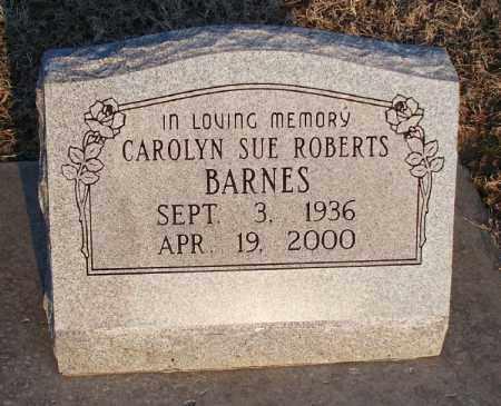 BARNES, CAROLYN SUE - Montgomery County, Kansas | CAROLYN SUE BARNES - Kansas Gravestone Photos