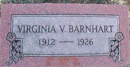 BARNHART, VIRGINIA V - Montgomery County, Kansas | VIRGINIA V BARNHART - Kansas Gravestone Photos
