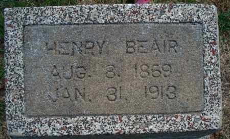 BEAIR, HENRY - Montgomery County, Kansas   HENRY BEAIR - Kansas Gravestone Photos