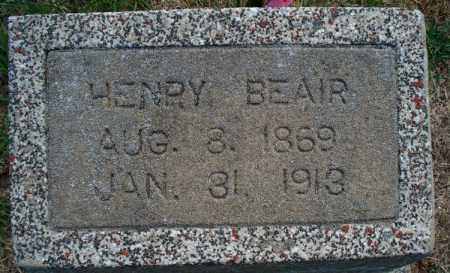 BEAIR, HENRY - Montgomery County, Kansas | HENRY BEAIR - Kansas Gravestone Photos