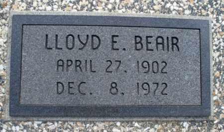 BEAIR, LLOYD E. - Montgomery County, Kansas   LLOYD E. BEAIR - Kansas Gravestone Photos