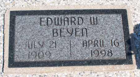 BEYEN, EDWARD W. - Montgomery County, Kansas   EDWARD W. BEYEN - Kansas Gravestone Photos