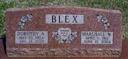 BLEX, MARSHALL W - Montgomery County, Kansas | MARSHALL W BLEX - Kansas Gravestone Photos