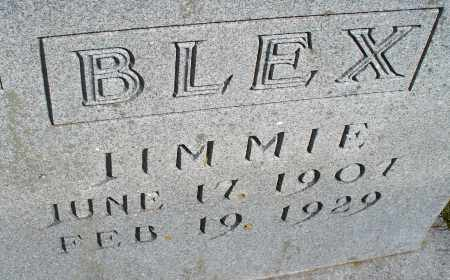 BLEX, JIMMIE - Montgomery County, Kansas | JIMMIE BLEX - Kansas Gravestone Photos