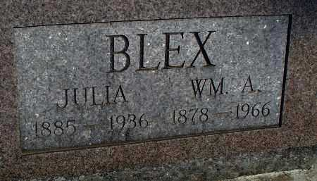 BLEX, WILLIAM A. - Montgomery County, Kansas | WILLIAM A. BLEX - Kansas Gravestone Photos