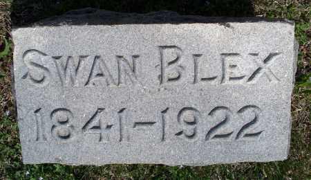 BLEX, SWAN - Montgomery County, Kansas   SWAN BLEX - Kansas Gravestone Photos