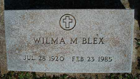 BLEX, WILMA M - Montgomery County, Kansas   WILMA M BLEX - Kansas Gravestone Photos