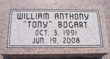 "BOGART, WILLIAM ANTHONY ""TONY"" - Montgomery County, Kansas | WILLIAM ANTHONY ""TONY"" BOGART - Kansas Gravestone Photos"
