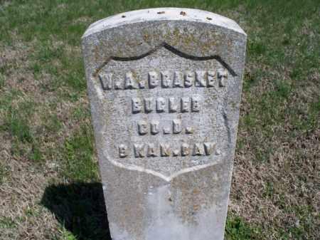 BRASKET, W A  (VETERAN UNION) - Montgomery County, Kansas | W A  (VETERAN UNION) BRASKET - Kansas Gravestone Photos