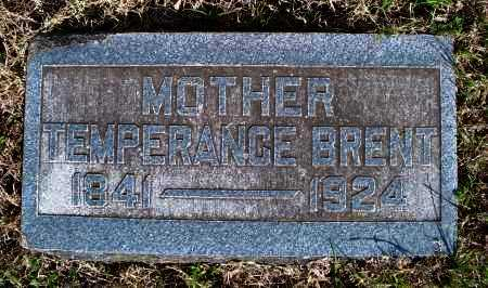 BRENT, TEMPERANCE - Montgomery County, Kansas   TEMPERANCE BRENT - Kansas Gravestone Photos