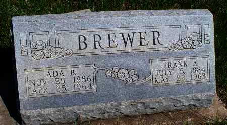 BREWER, FRANK A - Montgomery County, Kansas | FRANK A BREWER - Kansas Gravestone Photos