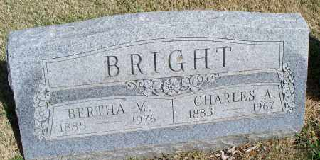 BRIGHT, BERTHA M. - Montgomery County, Kansas | BERTHA M. BRIGHT - Kansas Gravestone Photos