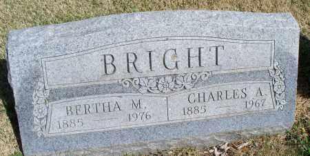 BRIGHT, BERTHA M - Montgomery County, Kansas | BERTHA M BRIGHT - Kansas Gravestone Photos
