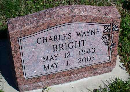 BRIGHT, CHARLES WAYNE - Montgomery County, Kansas | CHARLES WAYNE BRIGHT - Kansas Gravestone Photos