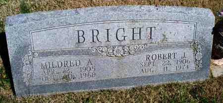 BRIGHT, MILDRED A. - Montgomery County, Kansas | MILDRED A. BRIGHT - Kansas Gravestone Photos