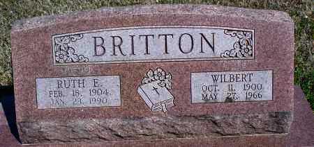 BRITTON, RUTH E - Montgomery County, Kansas | RUTH E BRITTON - Kansas Gravestone Photos
