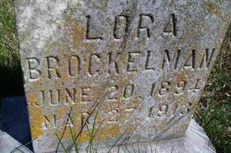 BROCKELMAN, LORA - Montgomery County, Kansas | LORA BROCKELMAN - Kansas Gravestone Photos