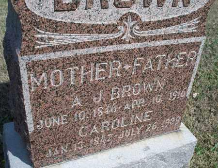 BROWN, CAROLINE - Montgomery County, Kansas | CAROLINE BROWN - Kansas Gravestone Photos