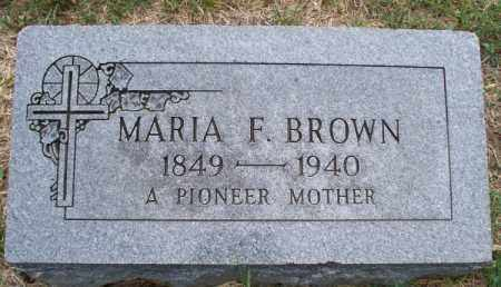 BROWN, MARIA F - Montgomery County, Kansas   MARIA F BROWN - Kansas Gravestone Photos