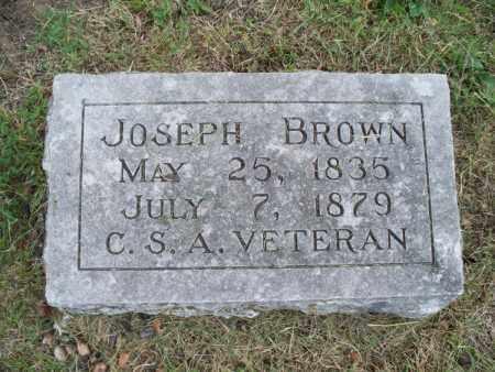 BROWN, JOSEPH  (VETERAN CSA) - Montgomery County, Kansas   JOSEPH  (VETERAN CSA) BROWN - Kansas Gravestone Photos