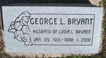 BRYANT, GEORGE L. - Montgomery County, Kansas   GEORGE L. BRYANT - Kansas Gravestone Photos