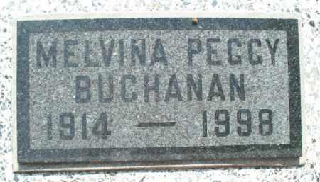 BUCHANAN, MELVINA PEGGY - Montgomery County, Kansas | MELVINA PEGGY BUCHANAN - Kansas Gravestone Photos
