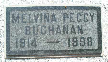 BUCHANAN, MELVINA PEGGY - Montgomery County, Kansas   MELVINA PEGGY BUCHANAN - Kansas Gravestone Photos