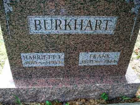BURKHART, HARRIETT F. - Montgomery County, Kansas | HARRIETT F. BURKHART - Kansas Gravestone Photos