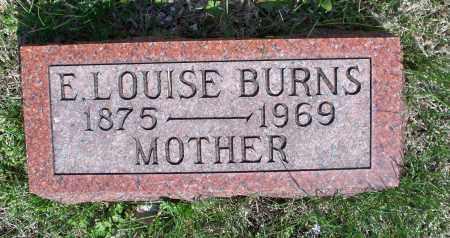 BURNS, E. LOUISE - Montgomery County, Kansas   E. LOUISE BURNS - Kansas Gravestone Photos