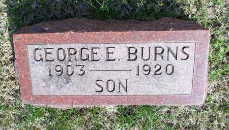 BURNS, GEORGE E. - Montgomery County, Kansas | GEORGE E. BURNS - Kansas Gravestone Photos