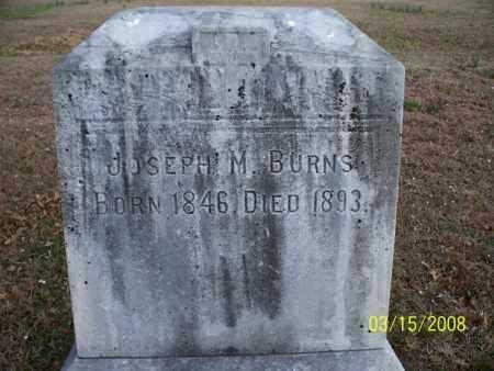 BURNS, JOSEPH M. - Montgomery County, Kansas   JOSEPH M. BURNS - Kansas Gravestone Photos