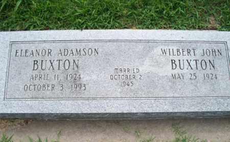 ADAMSON BUXTON, ELEANOR - Montgomery County, Kansas   ELEANOR ADAMSON BUXTON - Kansas Gravestone Photos
