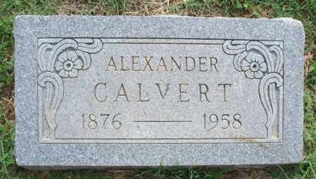 CALVERT, ALEXANDER - Montgomery County, Kansas | ALEXANDER CALVERT - Kansas Gravestone Photos