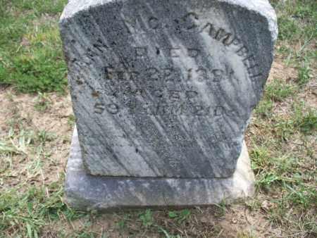 CAMPBELL, ANN MC - Montgomery County, Kansas | ANN MC CAMPBELL - Kansas Gravestone Photos