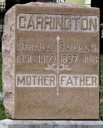 CARRINGTON, SARAH E - Montgomery County, Kansas   SARAH E CARRINGTON - Kansas Gravestone Photos